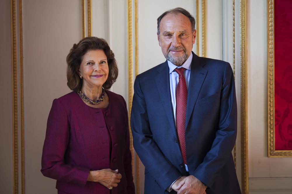 Drottning Silvia och Henrik Frenkel