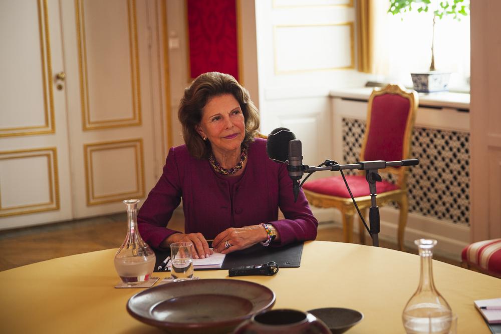 Drottning Silvia spelar in podcast
