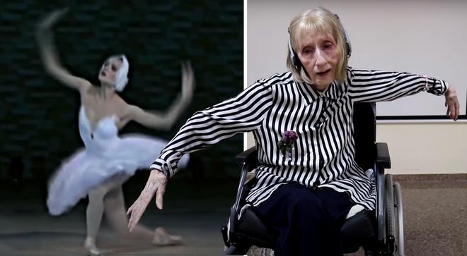 Prima ballerinan som strax före sin död blev en vit svan